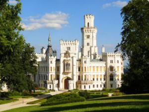 Дворец Глыбока над Влтавой в Чехии