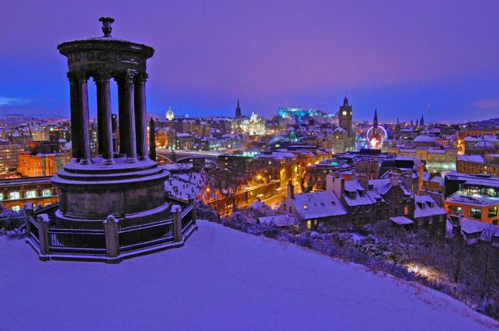 Эдинбург зимой Англия