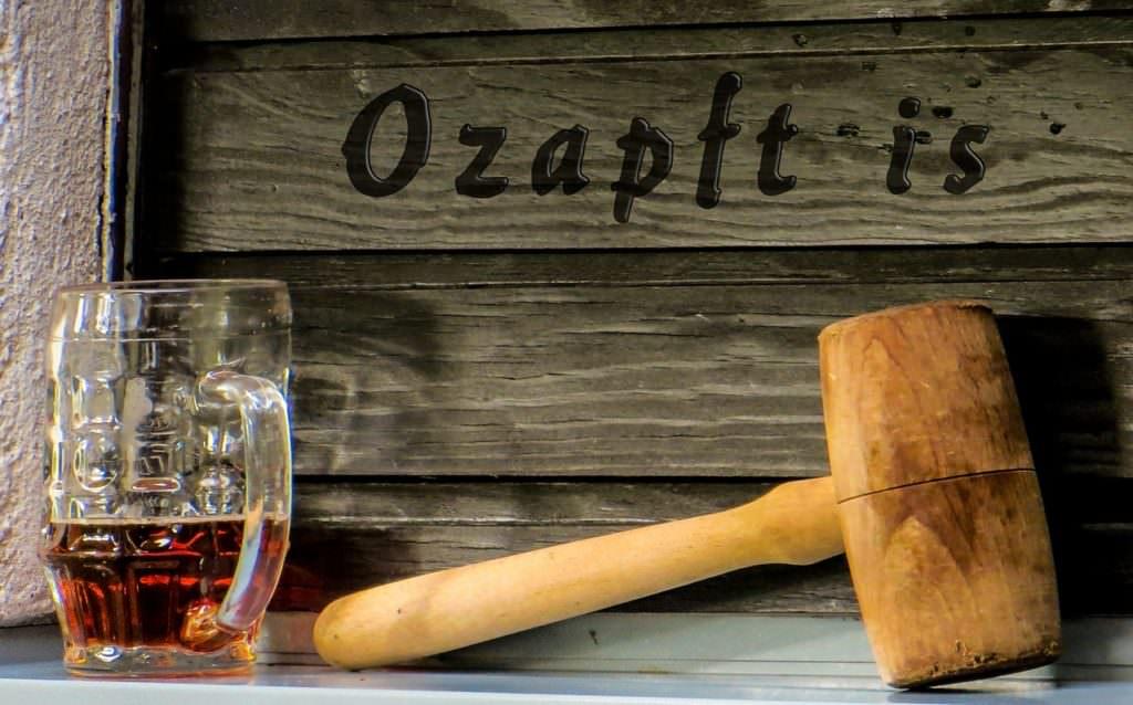 Стенд пивоварни на Октоберфесте